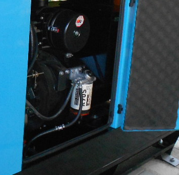 Blue-genset-filter-installed